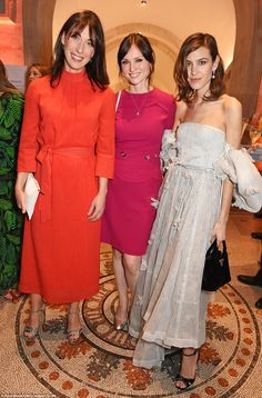 Samantha Cameron with Sophie Ellis Bextor and Alexa Chung attended the 2017 National Portrait Gallery gala on March 28, 2017 in London. Green Lace Dresses, Nice Dresses, Balmain, Valentino, Sophie Ellis Bextor, Samantha Cameron, National Portrait Gallery, Bridesmaid Dresses, Wedding Dresses