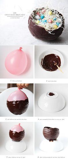 Easter fun & yummy idea: Chocolate Bird's Nest_ by Le Zoe Musings