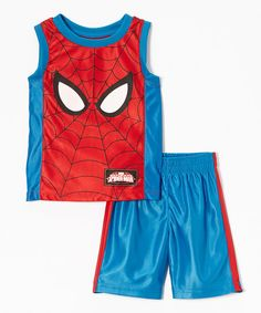 Spiderman Spider-Man Costume Tank & Shorts - Toddler & Boys | zulily