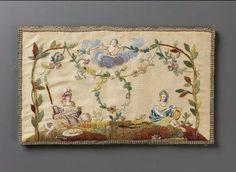 Pocketbook - Silk plainweave (taffeta) embroidered with silk, 1780–1800