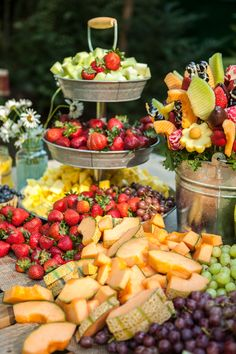 Fresh Fruit Spread at Reception
