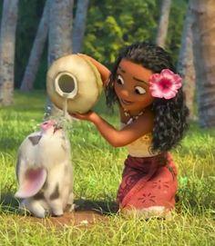 Moana e pua Moana Disney, Walt Disney, Disney Pixar, Disney And Dreamworks, Disney Cartoons, Disney Magic, Disney Art, Disney Movies, Disney Animation