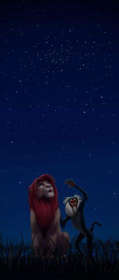 O Rei Leão ao lado do grande sábio macaco.