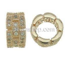 Kubischer Zirkonia Messing Perlen, Rondell, Rósegold-Farbe