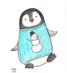 Nursery Decor Penguin Illustration Print Black & White by mikaart https://www.etsy.com/listing/248865631/nursery-decor-penguin-illustration-print?ref=shop_home_active_1
