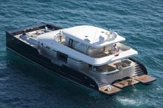 A FLOATING APARTMENT OF 188SQM!! BRADLEY is a very exciting and stand-alone motor catamaran with incredible stability at anchor and underway and is equipped with two hydro jets, which allows her to be extremely manoeuvrable.