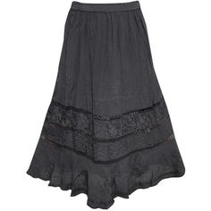 Mogulinterior Women's Bohemian Black Embroidered Rayon Stylish Hippy... (170 HRK) ❤ liked on Polyvore featuring skirts, hippie skirt, boho skirt, hippy skirt, embroidered skirt and bohemian skirt
