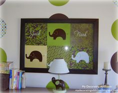 nursery artwork from scrapbook paper | A Pop of Pretty: Canadian Decorating Blog