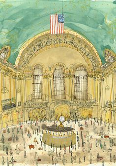 Hey, I found this really awesome Etsy listing at https://www.etsy.com/listing/186749565/grand-central-station-new-york-signed