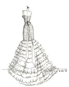 Beautiful ink sketches of your dress! Wouldnt you love to give or get this as a gift?   Can be sketched from either a photo or a web site link. Sketches are drawn in ink on high-quality 9*12 Canson paper, ready to be framed in an 8*10 frame or matted/framed in an 11*14 frame.  Gift certificates available - perfect wedding gift for the bride who has everything! Cost for gift certificate is $104 ($90 for gift certificate and sketch and $14 for shipping). What I need from you:  - A scanned…