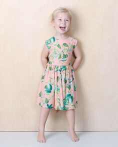 Girls dress by Emma och Malena  it is in mommy sizes too. #palepink #girlsdress #floraldress #mommydaughterdress #emmaochmalena #themissingstyle