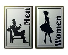 Android MaleFemale Bathroom Signs - Ladies and gents bathroom signs for bathroom decor ideas