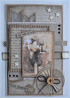 Velkommen inn: DT kort til utfordring #100 hos Card and scrap med blogghopp:)