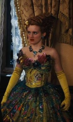 Sophie McShera Sandy Powell (Costume Designer) Custom Made Yellow Floral Tacky Ball Gown (Drizella) from Cinderella | TheTake