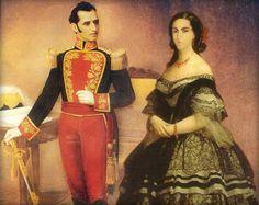 Antonio José de Sucre, hero of southamerican independence (born in Venezuela), and his wife: Mariana Carcelén de Guevara, Marquise of Solanda and Villarocha (born in Ecuador).