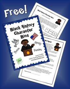 FREE Black History Character Bios - During February, many classrooms celebrate Black History month. Students often research famous Black Americans and write a short report. Unfortunately, many students don't know how to research, organize, and write a report and do far too much copying and pasting. The Character Trait Bio activity is a little different because students are asked to organize their essays around character traits which makes plagiarism almost impossible.