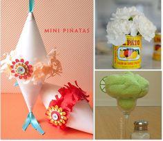 Easy DIY pinatas! Tutorial here: http://onecharmingparty.com/category/cinco-de-mayo/
