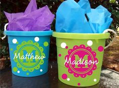 Personalized Easter Basket - Monogram - Choice of colors and Name