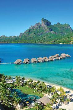 The Four Seasons Bora Bora is set on a private motu with tropical gardens and pristine beaches. #Jetsetter Four Seasons Resort Bora Bora (Bora Bora, French Polynesia)