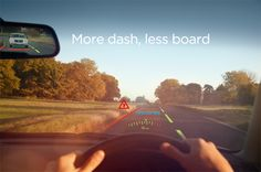 A heads up display for the car - cool!
