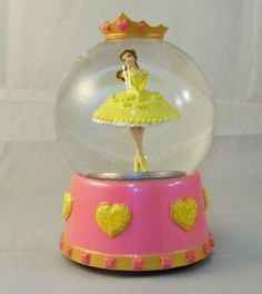 Amazon.com: Belle Form Beauty and the Beast Ballerina Musical Snow Globe: Home & Kitchen