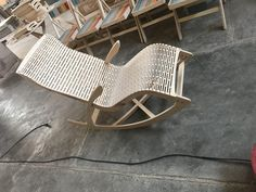 Sarv Rocking chair with Variable pitch Kerfing - Parasolid - 3D CAD model - GrabCAD