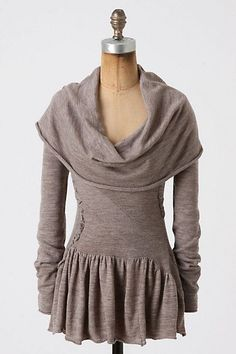 DIY sweatshirt  this is awesome!  elfsacks, think if u made this with other fabric, like linen or even plether!