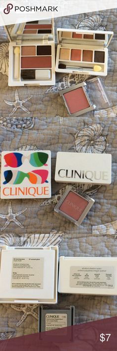 3 NEW CLINIQUE SETS 3 new Clinique sets. I can do a better price for multiple. Posh Mark takes $3 for each listing that is under $10 Clinique Makeup Eyeshadow