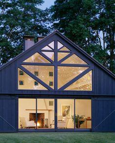 Blue barn home