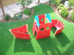 Playground Using SYNLawn (12) Our synthetic playground turf mimics real grass, cushioning falls and preventing grass stains. Get a free consultation from SYNLawn® of San Diego.