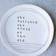 stamped ceramics. I have letter stamps for sayings.