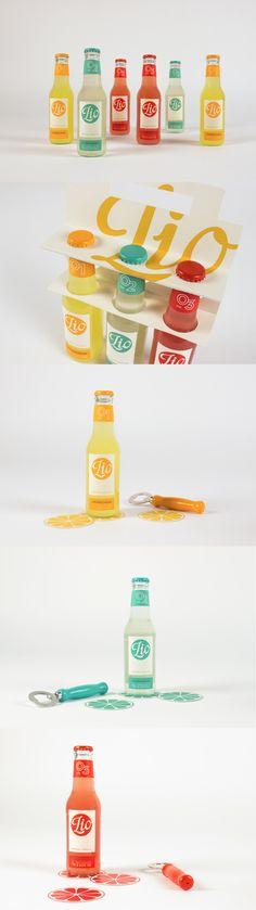 Unique Packaging Design on the Internet, Lio-Premium Limonade #packaging #packagingdesign #design