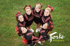 Senior Portraits/ Picture/ photos Cheerleading Group Asheville area Senior Photos Forte Photography NC