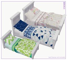 CONTENTS 22 NEW MESHES (3 mattresses + 4 pillows + 10 double blankets + 10 single blankets + 10 toddler blankets) 64 patterned ...
