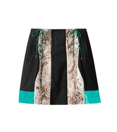 AKANE UTSUNOMIYA(アカネウツノミヤ)のPython Print Mix Skirt-GREEN(スカート/skirt)-W16FSK112004-22 拡大詳細画像4