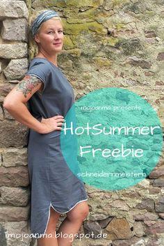 Hot Summer Freebie, mojoanma, schneidernmeistern, sommerkleid, webware, nähen Frauen, nähen, freepattern, Freebook