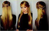 Braid half open side hairstyles half open straight hair ... - braided hair ... ....#braid #braided #hair #hairstyles #open #side #straight