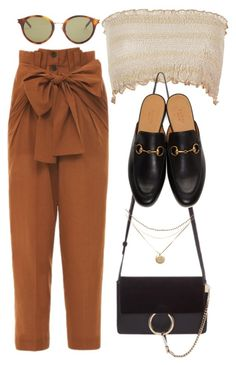 """Sin título #3336"" by camilae97 ❤ liked on Polyvore featuring Jonathan Saunders, Chloé, Yves Saint Laurent and Gucci"