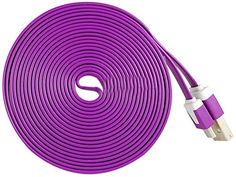 """myLife Bright Plum Purple + Floral White {Solid Flat Noodle Design} 6' Feet (1.8 Meter) Quick Charge USB 2.0 Micro USB to USB Data Sync Cord for Phones, Cameras, Tablets and GPS Devices """"SEE COMPATIBILITY"""" (Durable Rubber Coat) myLife Brand Products http://www.amazon.com/dp/B00O7ZOC8U/ref=cm_sw_r_pi_dp_OA-tub0EJT1HJ"""