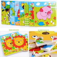 DIY Wooden Puzzle Jigsaw Toys wood Animal Model For Children Puzzles Intelligence Kids Early Children Educational Toys Wooden Puzzles, Jigsaw Puzzles, 3 Years Old Baby, Wood Animal, Puzzles For Kids, Wooden Diy, Educational Toys, Kids Rugs, Happy Birthday