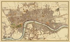 "London Antique map Print - 20 x 33 ""  Ask a Question £28.24 GBP Quantity  Overview Handmade Materials: Premium Archival Matte Pape, lithorealistic 270g per sqm, canon pigment inks, fine art giclee Feedback: 241 reviews Ships worldwide from Romania"