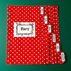 Filofax-Personal-Planner-Red-White-Labelled-Dividers-set-of-6-Laminated Organisers, Office Organization, Dividers, Filofax, Planners, Red And White, Notes, Ebay, Organization