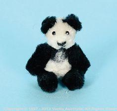 Mohair Panda Bears | Schuco mohair Panda Bear, 1950s, metal bead eyes, horizontally ...