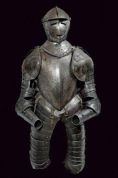 A cuirasser half armour, France 17th century.