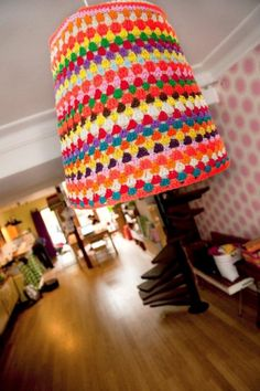 lamp with crochet cover by petitus on Etsy, $65.00