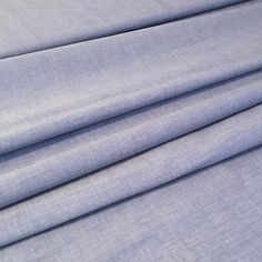 Blue Chambray Fabric Shirting Fabric By the Half Metre