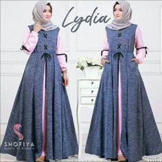 Trendy diy clothes no sewing dresses moda ideas Batik Fashion, Abaya Fashion, Fashion Dresses, Muslim Women Fashion, Islamic Fashion, Abaya Designs, Muslim Long Dress, Abaya Mode, Hijab Stile