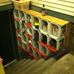 Good reuse of kitty litter containers