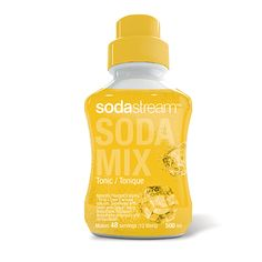Add a little sparkle to your favourite   drink recipes with our SodaStream Sparkling Flavour Tonic mix. 2/3 less sugar than traditional soda, and no  aspartame or caffeine.