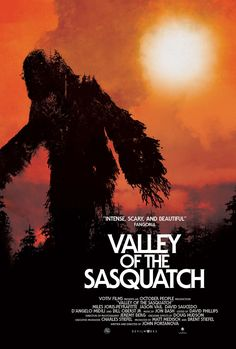 Valley Of The Sasquatch Movie Trailer and Movie Poster. John Portanova's Valley Of The Sasquatch movie trailer stars Bill Oberst Jr. Best Movie Posters, Film Posters, Horror Posters, New Trailers, Movie Trailers, Bigfoot Movies, Bigfoot Photos, Bigfoot Sasquatch, Ghost Tour
